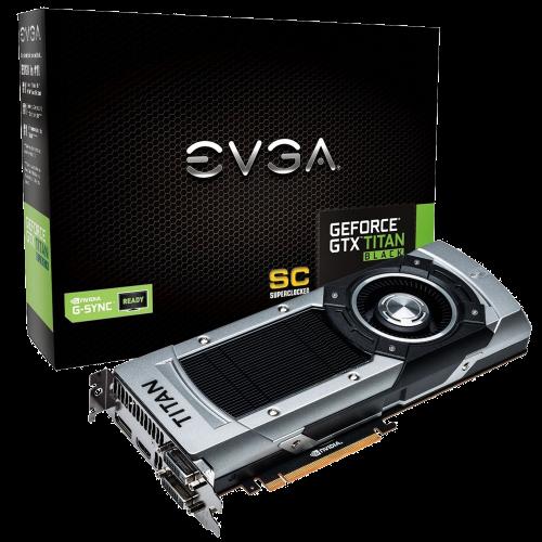 EVGA GeForce GTX TITAN BLACK Superclocked w/G-Sync Support 6GB